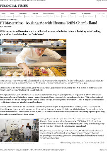 Financial Times - Boulangerie with Thomas Teffri-Chambelland